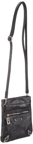 Friis & Company Bevy Bag 1240177, Borsa messenger donna, 17x15x1 cm (L x A x P) Nero (Schwarz (Black 001))