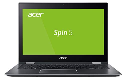 Acer Spin 5 (SP513-53N-56MD) 33.8 cm (13,3 Zoll Multi-Touch FHD mit IPS, Intel Core i5-8265U, Intel UHD Graphics 620, 8 GB DDR4 RAM, 512 GB SSD, Win 10 Home (64 Bit), Steel Gray Unibody Aluminium) Acer Pc Laptop Computer