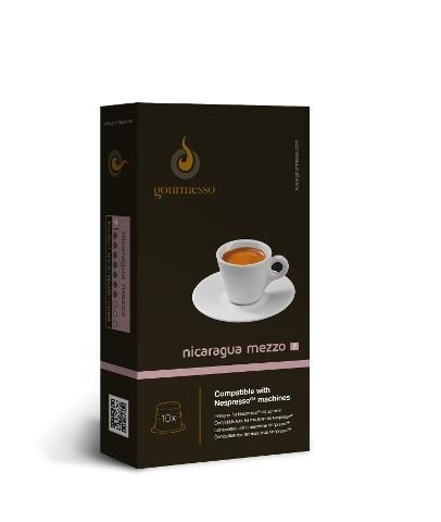 Kompatible Nespresso Kapseln geeignet für Nespresso Maschinen: 10 Kaffee Kapseln (0,26EUR / Stk.) Nicaragua Mezzo (Intensität:7)