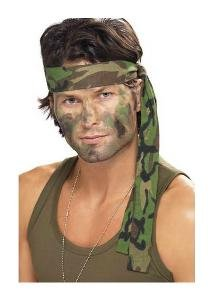 Karneval Kostüm Zubehör Stirnband Militär Camouflage für Soldat (Militär Kostüm Zubehör)