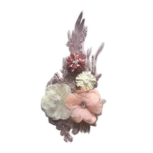 LIOOBO DIY Colorido 3D Floral Parches Costura Lentejuelas