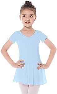 Bezioner Vestido de Ballet Maillot de Danza Gimnasia Leotardo Algodón Body Clásico para Niña