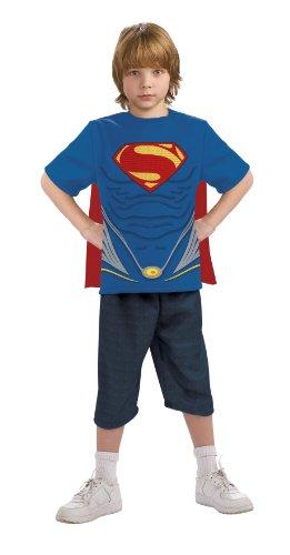 Rubie's T-Shirt und Umhang Superman Man of Steel für Kinder (Man Of Steel Kinder Kostüm)