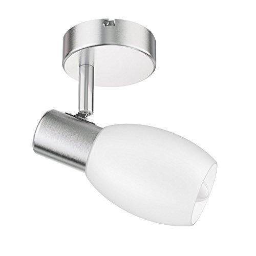 ledscom.de Wand-Leuchte LUPI, einflammig inkl. 450lm LED E14 Lampe warm-weiß