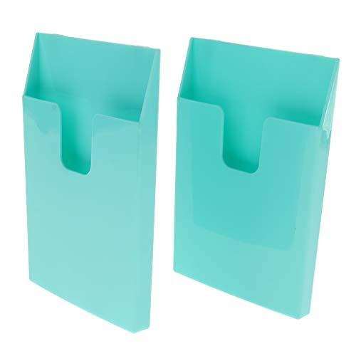 B Blesiya 2 Pz Scatola di Immagazzinaggio per Gattile, Canile, Ospedale Astuccio da Libro in Plastica - Verde