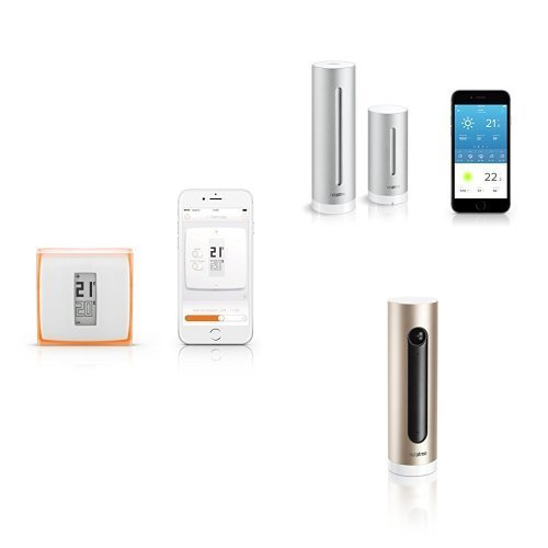 Kit Netatmo - Termostato + Cámara Wi-Fi con reconocimiento facial + Estación meteorológica