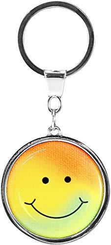 metALUm   Schlüsselanhänger Rund Metall Smiley 6601011