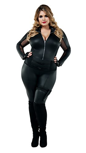 Für Agent Erwachsene Secret Kostüm - Starline, LLC. Secret Agent Plus Fancy Dress Costume Women's 3X