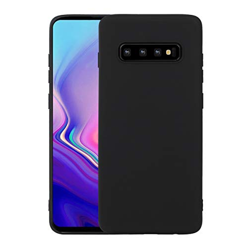 Liamoo Hülle kompatibel mit Samsung Galaxy S10 vollfarbige TPU Schutzhülle - Case - flexibel Schutz Cover in Schwarz