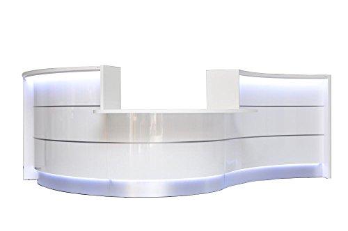 Empfangstheke TRESSA mit LED Beleuchtung, Rezeption in weiß und anderen Farben erhältlich,...