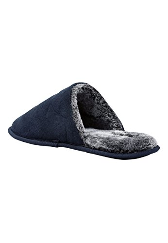 next Herren Slipper mit Monogramm Marineblau XL