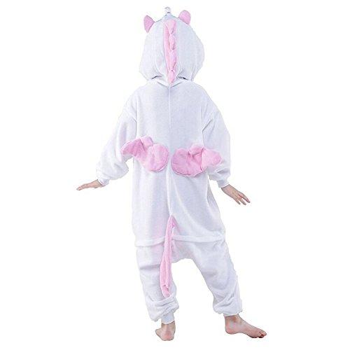 Pijama Cosplay Disfraz de Unicorn Bimba Bimbo Kigurumis para Carnaval Ropa de Dormir Animal Unisex Halloween Regalo de Cumpleaños Navidad Fiesta-LATH.PIN Rosa