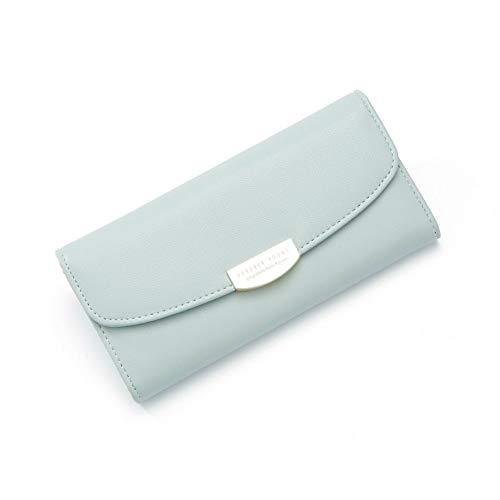 Damenbrieftasche Schnalle Handtasche Multi-Kartenlänge (19 * 9,8 cm), grün-34B