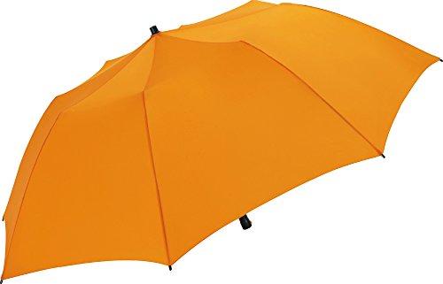 onnenschirm 147cm für Koffer Reisekoffer Flugzeug nur 71cm lang und 725g leicht (Orange) ()