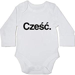 HippoWarehouse Czesc Polish Greeting Body Manga Larga Bodys Pijama niños niñas Unisex 9