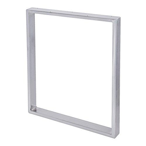 Stahl-Tischkufe | 1 Stück | Tischgestell | Breite 70 cm x Höhe 72 cm | Sossai® TKK1-IS7072-1 | Farbe: Transparent pulverbeschichtet (Industrie-look) | Gewicht: 6.8 Kg pro Stück