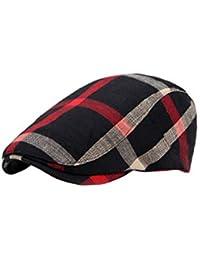 Zinmuwa Gorra Plana Ivy Gatsby Newsboy Sombrero De Caza Ajustable Clásico 9a03cc53728