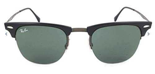Ray-Ban Herren Clubmaster Light Ray Sonnenbrille, Blasted Gunmetal, 49