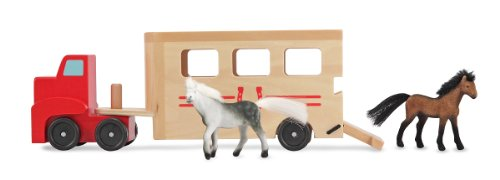melissa-doug-horse-box-wooden-vehicle-play-set-with-2-flocked-horses-and-pull-down-ramp