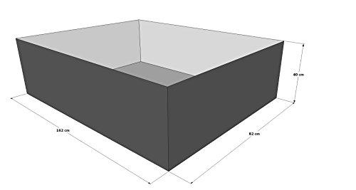 Gartenteich Hochteich Teich Einsatz 180x100 cm