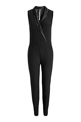 ESPRIT Collection Damen Straight Leg Jumpsuits 115EO1L001, Gr. 44/L32 (Herstellergröße: 44), Schwarz (Black 001) - 3