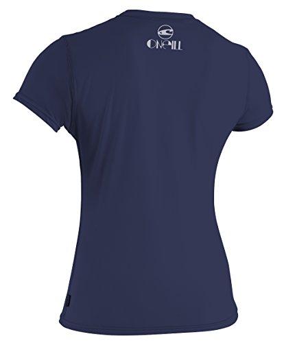 O 'Neill Neoprenanzug Damen UV Sun Schutz Skins Short Sleeve Tee Rashguard denim