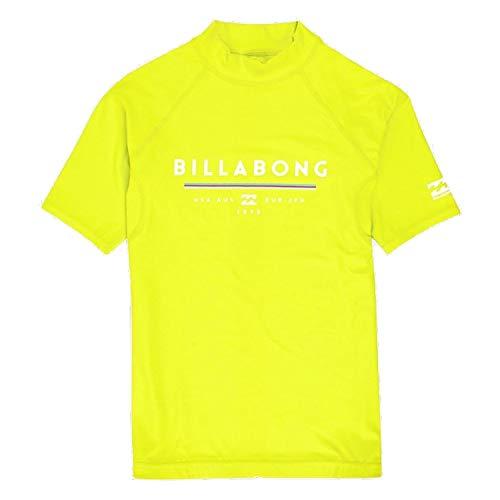 BILLABONG Junior Boys Unity Kurzarm Rash Vest Top Lime - Runden Sie Ihr Performance-Surf-Kit mit dem Unity Rashguard ab (Kurz-kids Billabong)
