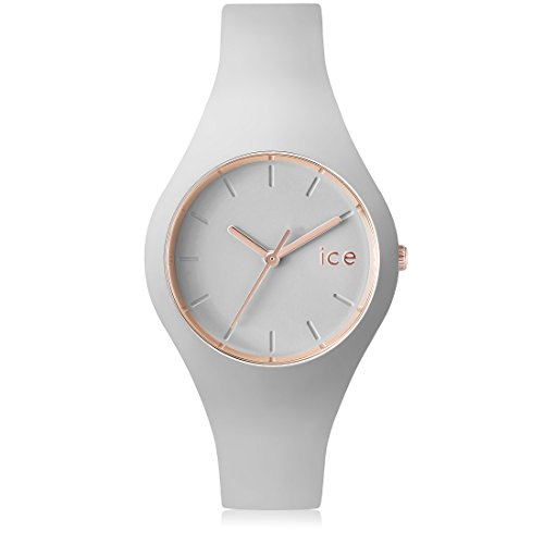 Ice-Watch - ICE glam pastel Wind - Graue Damenuhr mit Silikonarmband