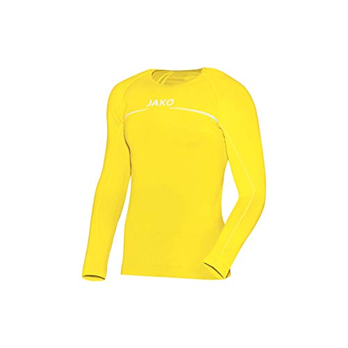 JAKO Longsleeve Comfort - Herren Langarmshirt,gelb (citro), L