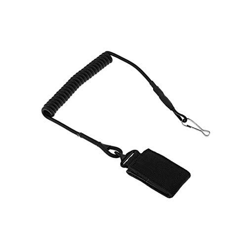 Cieelita Anti Stretch Multi Verlorener Tactics Bungee Elastisches Seil Hängeschlüssel Einziehbare Schleifen Für Outdoor-Camping Wandern Aktivitäten Schwarz -