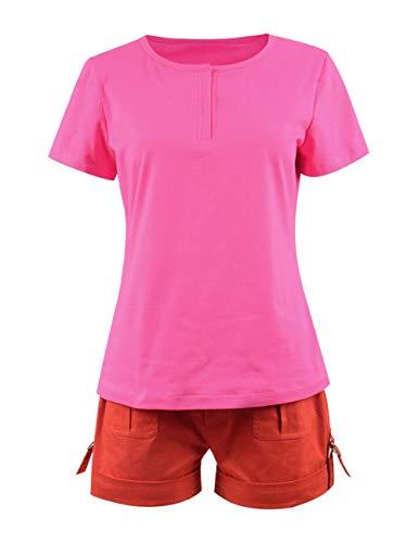IDEALcos Mädchen Dora Cosplay Kostüm Kurze Outfits (XS, Farbe 1)
