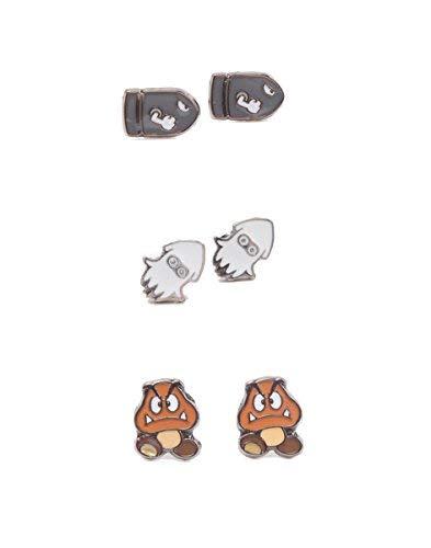 Offizielle lizenzierte Nintendo Super Mario Feinde Set von 3 Ohrringe