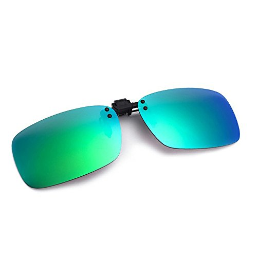 Cyxus Flash Objektiv Polarisierte Spiegel rechteckig Sonnenbrille Clip–UV-Schutz-Brille [Anti-Glare] [Brillen] fahren/Fischerei, Männer und Frauen