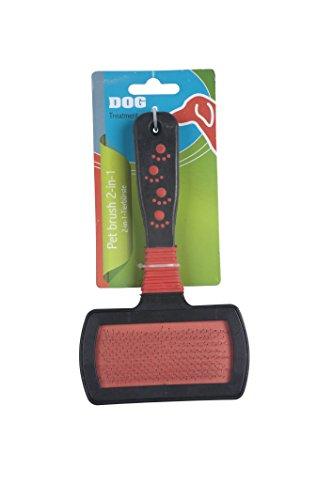 Cani Spazzola doppia spazzola 17cm vello cura spazzola pettine cane spazzola spazzola per animali