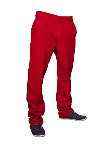 Urban Classics Hommes Chino Pants TB264 Rouge