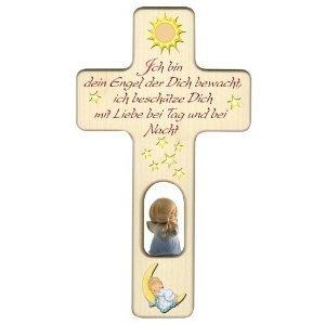 Holzkreuz für Jungen zu Geburt, Taufe oder Kindergeburtstag / Dekoration / mit Aufhängung