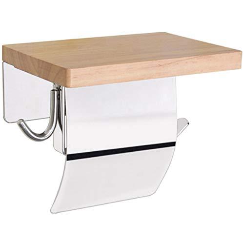 Preisvergleich Produktbild ZHENGBANGHZ Wasserdichter Toilettenpapierhalter Aus Edelstahl Für Toilettenpapier Aus Massivholz