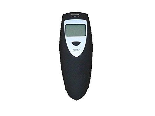S2G – Digitaler Alkohol-Tester, misst den Promillegehalt im Blut – schwarz gummiert - 3