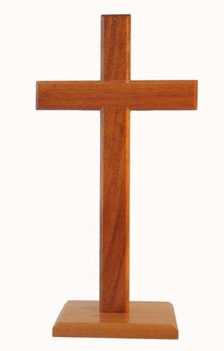 40cm stehend cross quadratische Basis christlichen desktop Geschenk Kruzifix aus Holz Holz