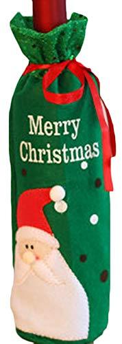 Zalock Weihnachtsdekorationen Weihnachtsmann Schneemann Weinflasche Tasche mit Kordelzug Cute Schön Dekoration für Festival Bankett Party Halloween