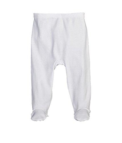Petit Bateau Baby-Unisex Hose Pantpieds, Weiß (Ecume 01), 50 (Herstellergröße: N 50cm) (Petite Weiße Hose)
