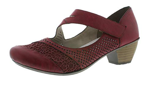 Rieker 41743 Damen Riemchen Pumps,Schließen-Pumps,Mary-Jane,festlich,Oktoberfest,Dirndl,Wiesn,Tracht,wine/scala/35,42 EU / 8 UK -