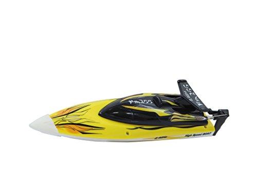 Jamara 040630 - FIN255 Speedboot 2,4G - Mit Sicherheitsfunktion! Schiffsschrauben drehen sich nur im Wasser, Anti-Kenternfunktion, Elektronik spritzwassergeschützt, Ruderanlenkung aus Metall