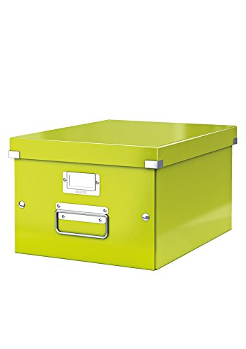 Leitz Click N Store - the practical storage and organisation solutions offering durability and style. These archiving boxes are perfect for storage around the home and in the office. Store anything from photos, documents, CDs,DVDs, suspension files a...