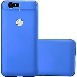 Cadorabo Coque pour Huawei Nexus 6P en Metallic Bleu - Housse Protection Rigide en Plastique Dur avec Anti-Choc et Anti-Rayures - Ultra Slim Fin Hard Case Cover Bumper