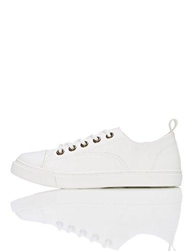 RED WAGON Jungen Flache Sneaker, Weiß (White), 26.5 EU