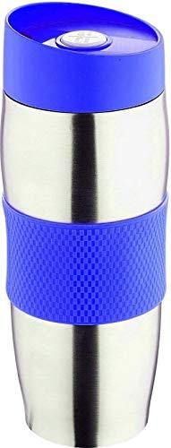 Thermobecher Isolierbecher Edelstahl 400ml Blau | Auslaufsicher Spülmaschinenfest | Kaffeebecher / Kaffee To Go Becher Thermo