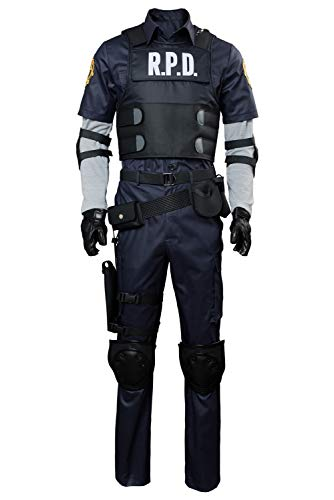Tollstore Resident Evil 2 Remake Re Leon Scott Kennedy Set Cosplay Kostüm Herren (Remake Kostüm)