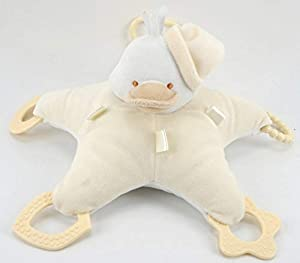 Duffi Baby- Peluche Patito y Mordedor, 100% Poliéster, Color Natural (Master Baby Home, S.L. 0767-05)
