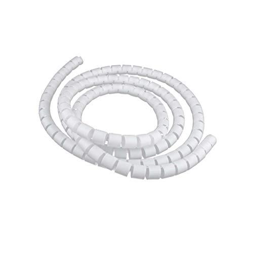 kwmobile 2x spirale pour c/âble C/âblage universel Cordon range et cache c/âble en blanc 15 x 100 mm Gaine de rangement et protection de fil